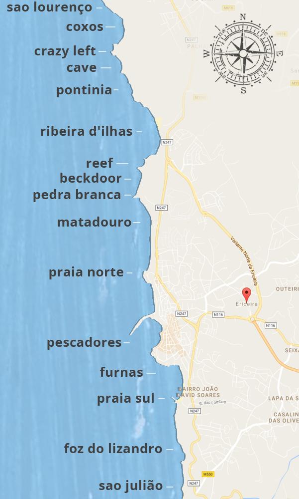 חופי גלישה בפורטוגל